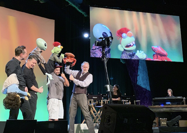 Improv puppetry with Brian Henson and the cast