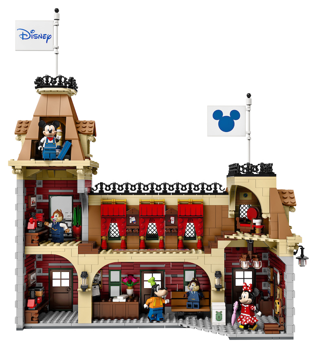 Disney Main Street train station, in Lego