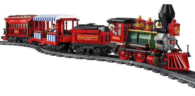 Disneyland railroad, in Lego