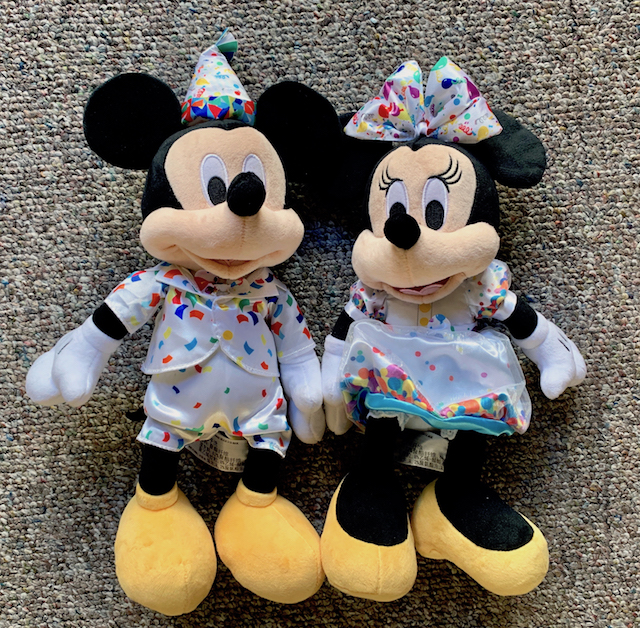 Mickey and Minnie plush