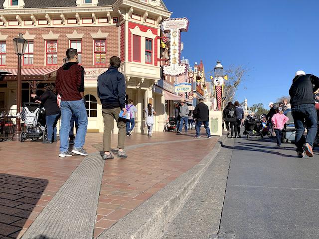 Main Street curb cut