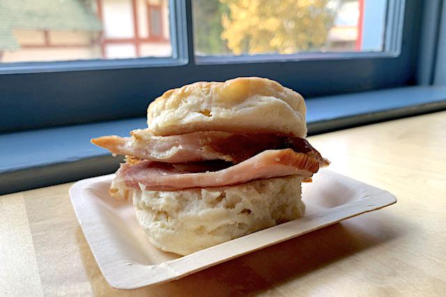Honey Buttered Ham Biscuit Sandwich