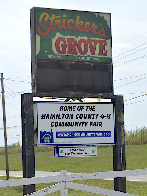 Stricker's Grove sign
