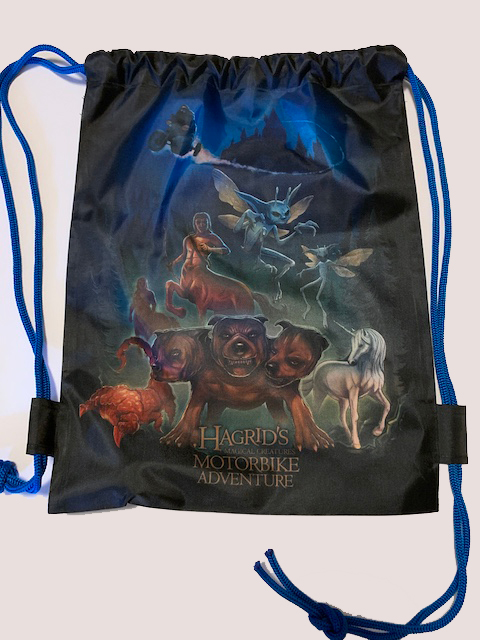 Hagrid's Magical Creatures Motorbike Adventure drawstring pack