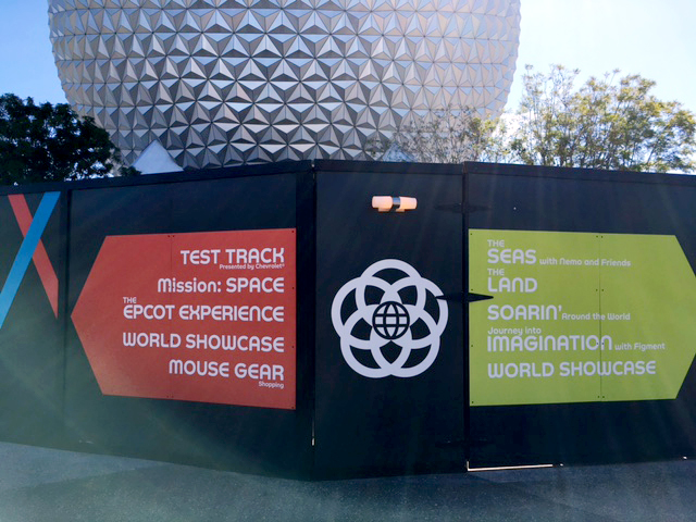Epcot construction sign