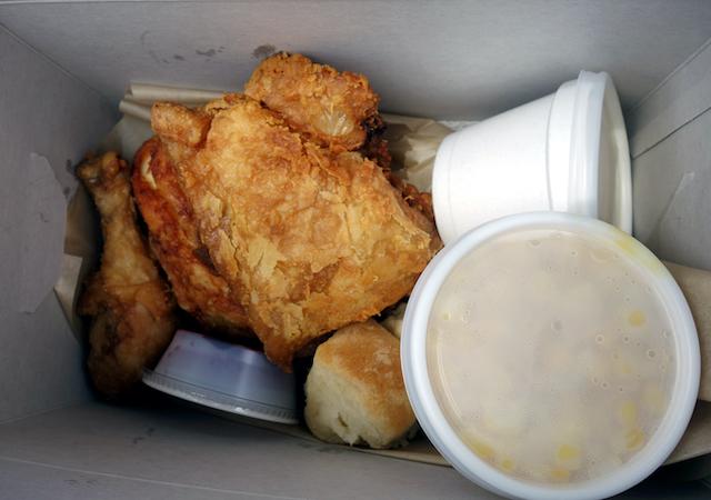 Mrs. Knott's Fried Chicken box