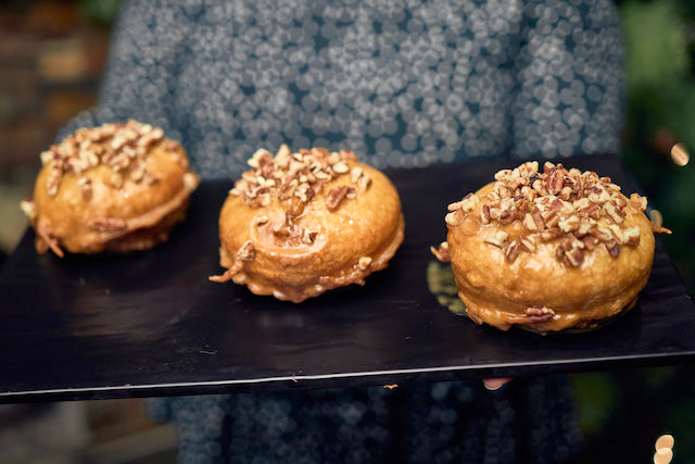 Comet's Cinnamon Bun with a Maple Glaze and Candied Pecans