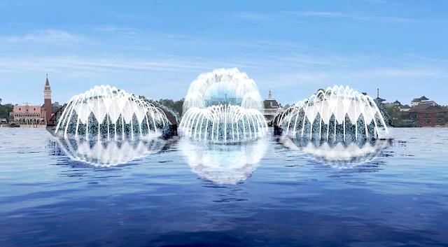 World Showcase fountains