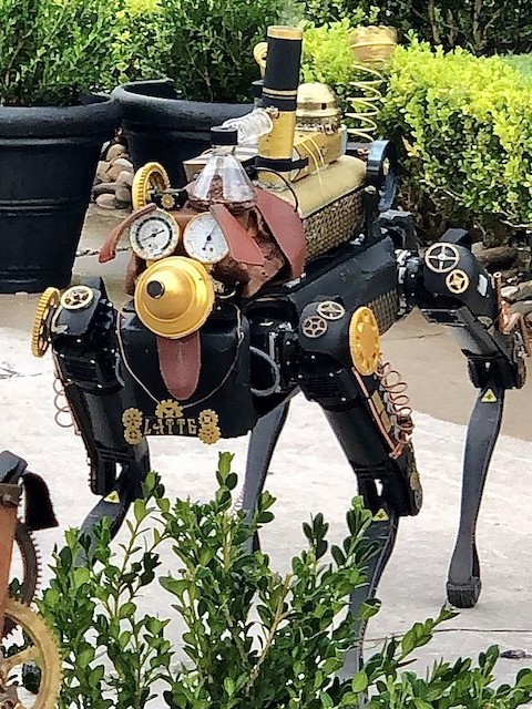 Latte the robot dog