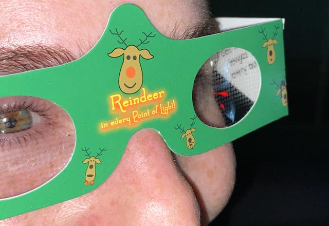 Reindeer rave glasses