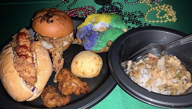 Mardi Gras menu sampler