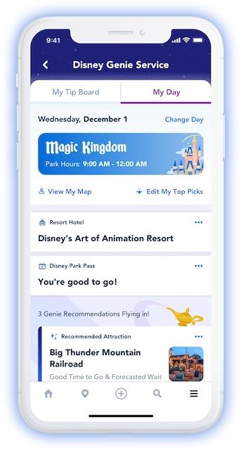 Disney Genie Itinerary