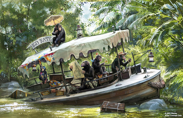 Chimps on the Jungle Cruise