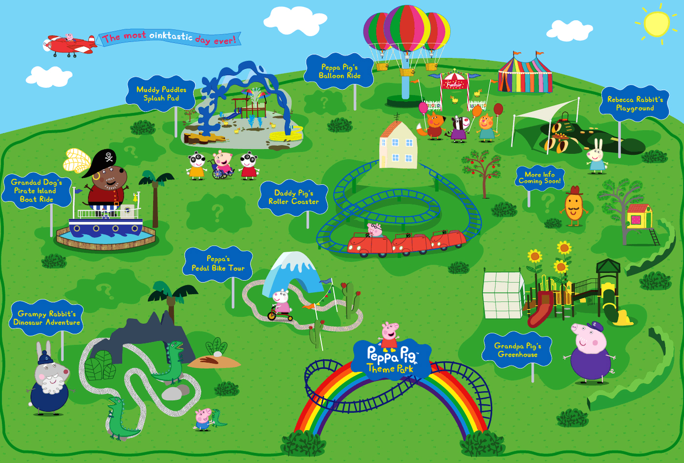 Concept map of Peppa Pig Park Florida