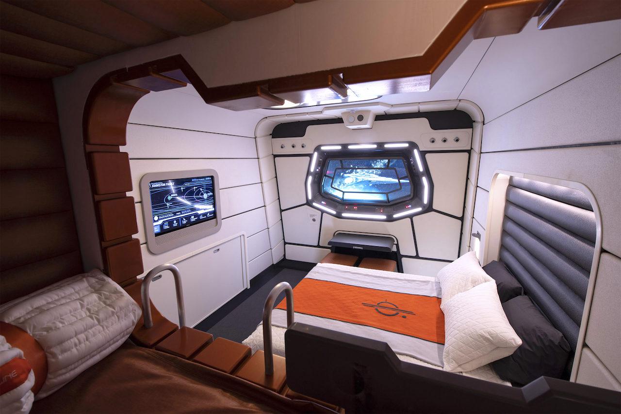 Star Wars: Galactic Starcruiser cabin