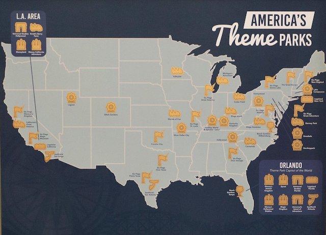 Theme Park Scratch Off Map