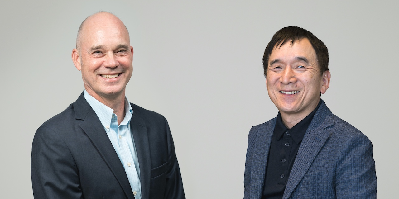 President and CEO of USJ LLC, J.L. Bonnier, and President and CEO of The Pokémon Company, Tsunekazu Ishihara
