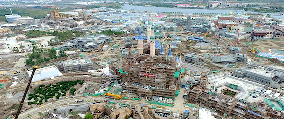 New Construction Photos from Shanghai Disneyland and Universal Studios Beijing