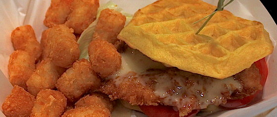 Which Theme Park Serves the Best Chicken and Waffle Sandwich?