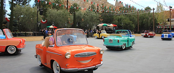 Let's Ride on the New Luigi's Rollickin' Roadsters at Disneyland