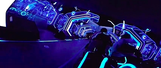 First on-ride video of Disney's Tron Lightcycle Power Run coaster