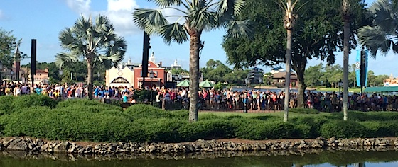 Fans pack Epcot for Disney World's Frozen Ever After