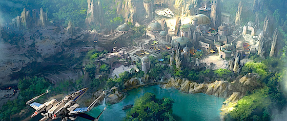Let's look at the latest Star Wars Land concept art