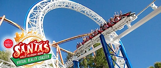 Six Flags Magic Mountain adds Santa-themed overlay to its VR coaster
