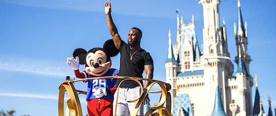 James White celebrates Super Bowl win at Walt Disney World