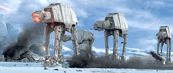 Imperial walkers have invaded Disney's Star Wars land