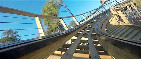 Busch Gardens Williamsburg posts first on-ride video from its new wooden coaster