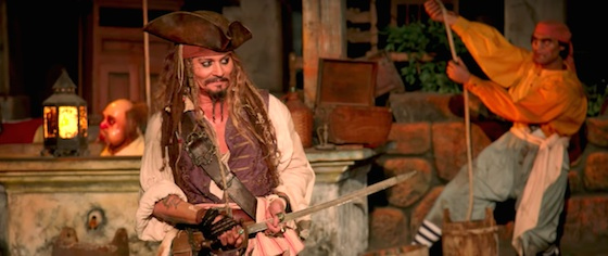 Johnny Depp pulls a shift at Disneyland's Pirates of the Caribbean