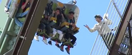 Use your head, theme park fans: Never take a phone on a roller coaster