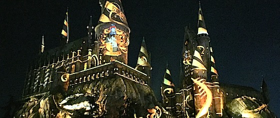 End the day with a dose of magic, at Universal's new Hogwarts Castle show