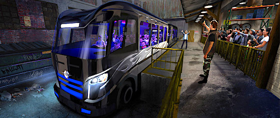 All aboard the party bus for Universal Orlando's Fast & Furious ride