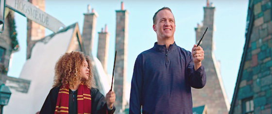 Universal Orlando fields Peyton Manning as its 'Vacation Quarterback'