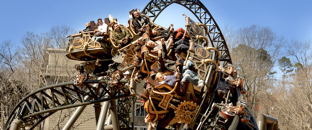 Silver Dollar City's Time Traveler spins an amazing ride