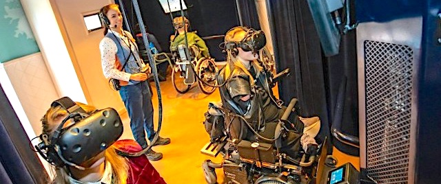 Is VR an alternative for disabled access on a theme park ride?
