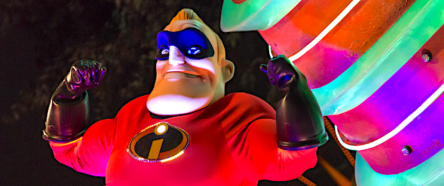 Disney 'paints the night' with a new Incredibles parade float