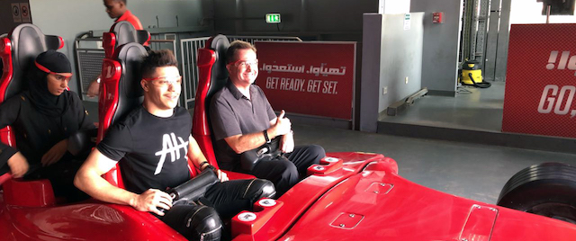 Racing after magic at Ferrari World Abu Dhabi