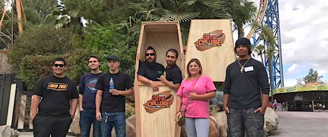 Follow the live stream of Six Flags' Coffin Challenge