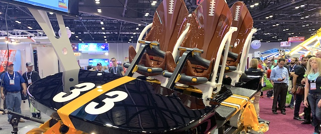 Get your first look at new coaster trains, from the IAAPA Expo
