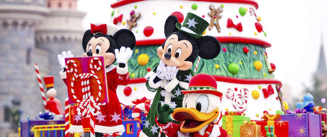 Celebrating Mickey Mouse and Christmas, at Disneyland Paris
