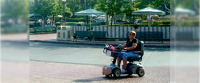 Are theme parks responsible to keep people safe from scooters?