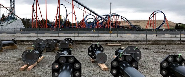 First pieces for West Coast Racers arrive at Magic Mountain