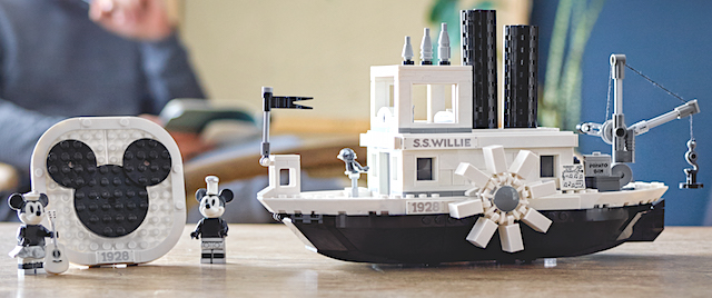 Lego releases its version of Mickey Mouse's Steamboat Willie
