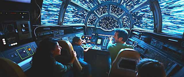 On board the Millennium Falcon