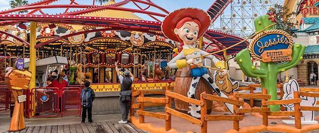 Jessie's Critter Carousel opens at Disney California Adventure