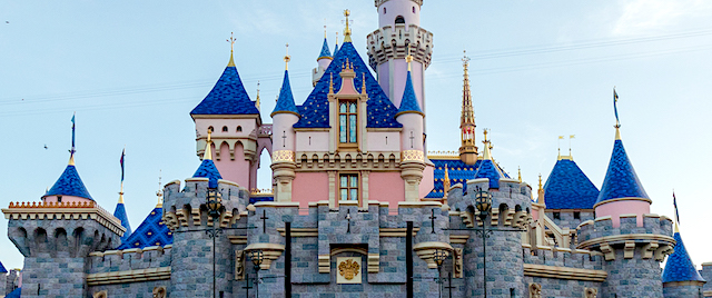 Looking to the future from the top of Disneyland's castle