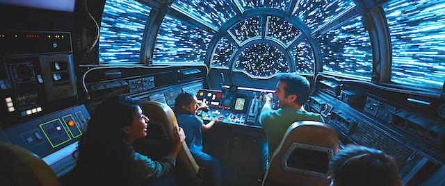 Why Disneyland's Millennium Falcon is not one ride, but three
